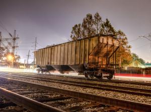 Train Car at Night